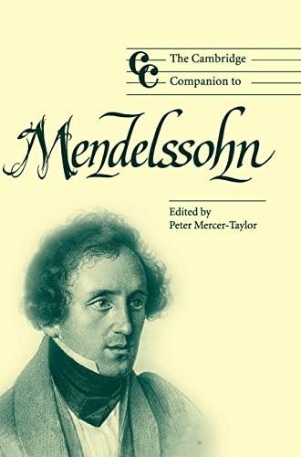 9780521826037: The Cambridge Companion to Mendelssohn (Cambridge Companions to Music)