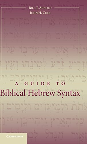 9780521826099: A Guide to Biblical Hebrew Syntax