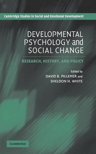 9780521826181: Developmental Psychology and Social Change: Research, History and Policy (Cambridge Studies in Social and Emotional Development)