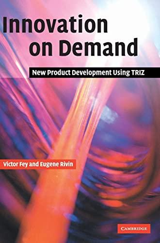 9780521826204: Innovation on Demand Hardback: New Product Development Using TRIZ