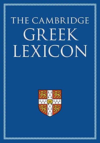 9780521826808: The Cambridge Intermediate Greek Lexicon