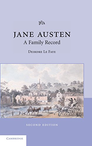 9780521826914: Jane Austen: A Family Record