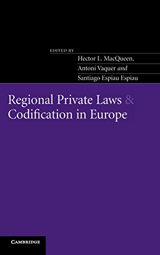 9780521828369: Regional Private Laws and Codification in Europe