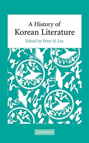 9780521828581: A History of Korean Literature