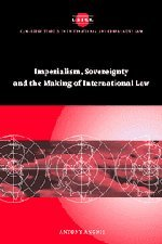 9780521828925: Imperialism, Sovereignty and the Making of International Law (Cambridge Studies in International and Comparative Law)