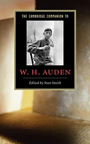 9780521829625: The Cambridge Companion to W. H. Auden (Cambridge Companions to Literature)