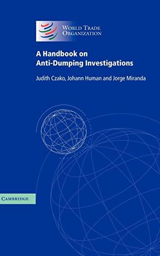9780521830423: A Handbook on Anti-Dumping Investigations