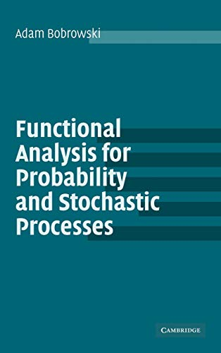 9780521831666: Functional Analysis for Probability and Stochastic Processes: An Introduction
