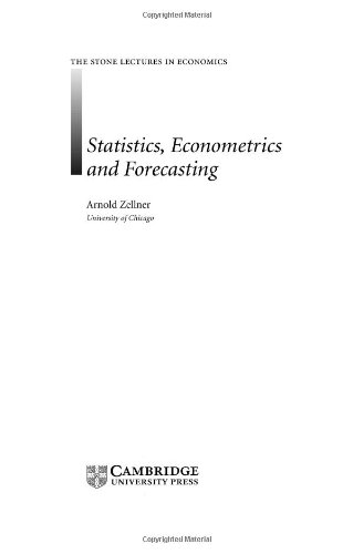 9780521832878: Statistics, Econometrics and Forecasting (The Stone Lectures in Economics)