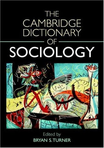 9780521832908: The Cambridge Dictionary of Sociology