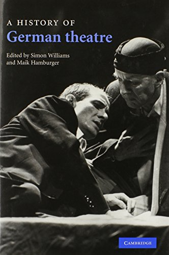 9780521833691: A History of German Theatre