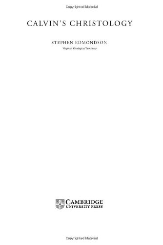 Calvin s Christology (Hardback): Stephen Edmondson