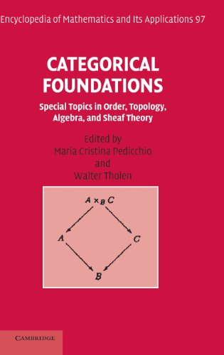 9780521834148: Categorical Foundations: Special Topics in Order, Topology, Algebra, and Sheaf Theory (Encyclopedia of Mathematics and its Applications)