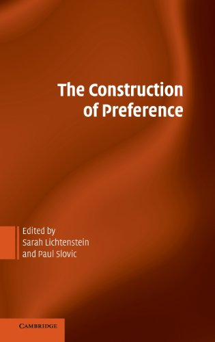 9780521834285: The Construction of Preference