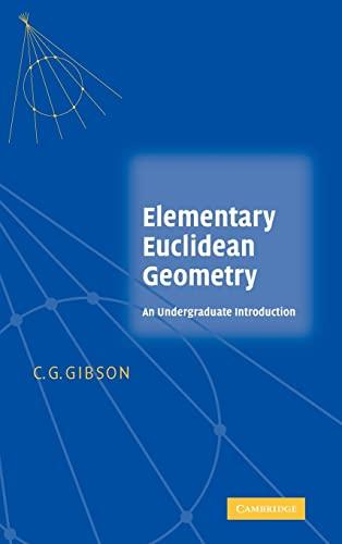 9780521834483: Elementary Euclidean Geometry: An Undergraduate Introduction