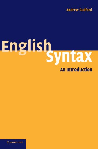 9780521834995: English Syntax: An Introduction