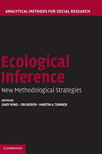 9780521835138: Ecological Inference: New Methodological Strategies (Analytical Methods for Social Research)