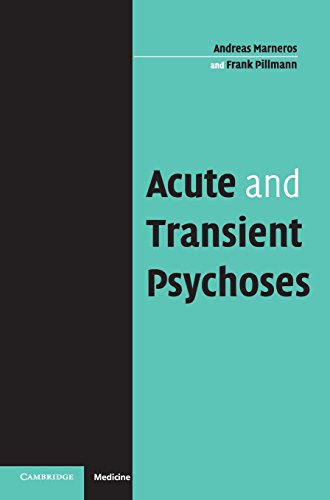 9780521835183: Acute and Transient Psychoses