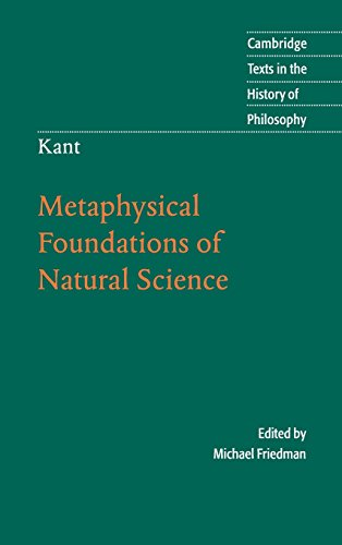 9780521836166: Kant: Metaphysical Foundations of Natural Science (Cambridge Texts in the History of Philosophy)