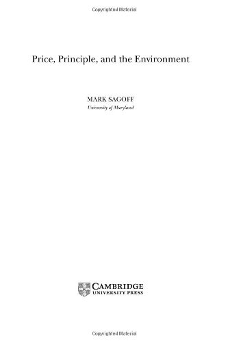 9780521837231: Price, Principle, and the Environment