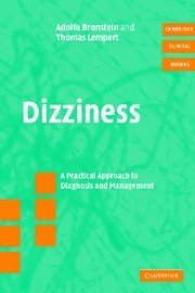 9780521837910: Dizziness with CD-ROM: A Practical Approach to Diagnosis and Management (Cambridge Clinical Guides)