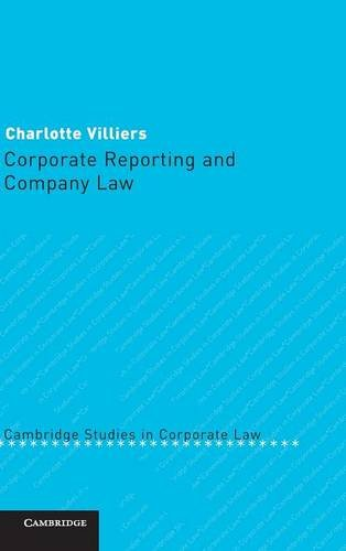 9780521837934: Corporate Reporting and Company Law (Cambridge Studies in Corporate Law)