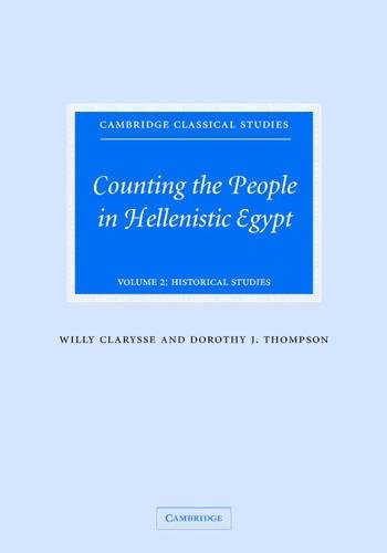 9780521838399: Counting the People in Hellenistic Egypt: Volume 2, Historical Studies (Cambridge Classical Studies)