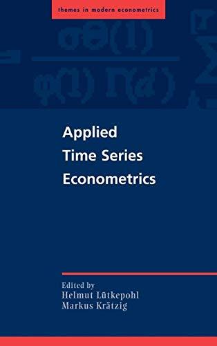 9780521839198: Applied Time Series Econometrics (Themes in Modern Econometrics)