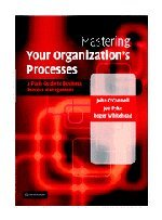 Mastering Your Organization's Processes: A Plain Guide to Business Process Management (...