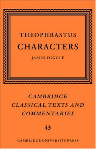 9780521839808: Theophrastus: Characters (Cambridge Classical Texts and Commentaries)