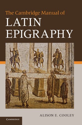 9780521840262: The Cambridge Manual of Latin Epigraphy Hardback
