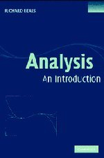9780521840729: Analysis Hardback: An Introduction