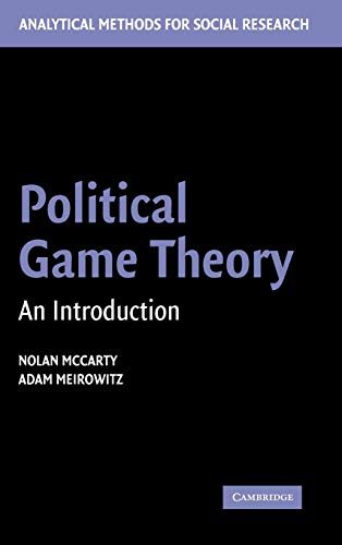9780521841078: Political Game Theory: An Introduction (Analytical Methods for Social Research)