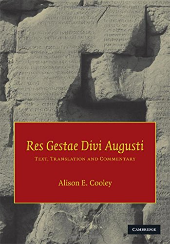 9780521841528: Res Gestae Divi Augusti: Text, Translation, and Commentary
