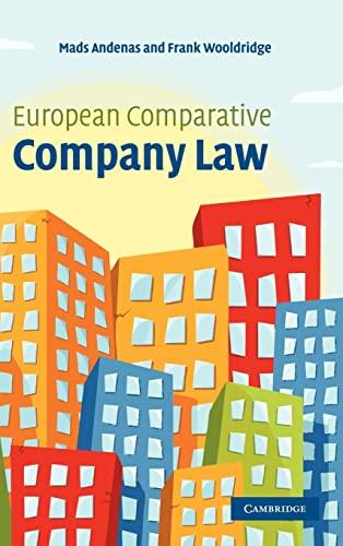 9780521842198: European Comparative Company Law