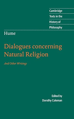 9780521842600: Hume: Dialogues Concerning Natural Religion: And Other Writings (Cambridge Texts in the History of Philosophy)