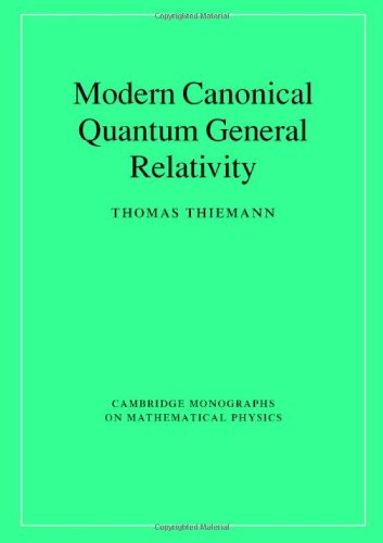 9780521842631: Modern Canonical Quantum General Relativity