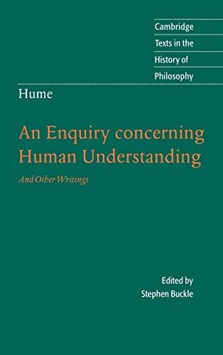 9780521843409: Hume: An Enquiry concerning Human Understanding Hardback: And Other Writings (Cambridge Texts in the History of Philosophy)