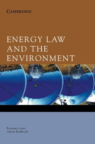9780521843683: Energy Law and the Environment
