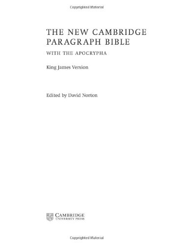 9780521843867: KJV New Cambridge Paragraph Bible with the Apocrypha: Burgundy Hardcover Edition