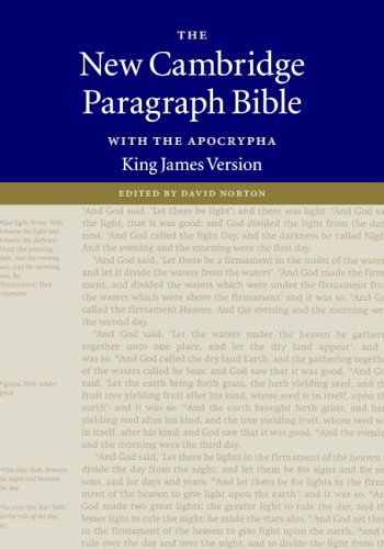 9780521843874: KJV New Cambridge Paragraph Bible with the Apocrypha Black French Morocco leather