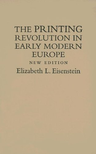 9780521845434: The Printing Revolution in Early Modern Europe