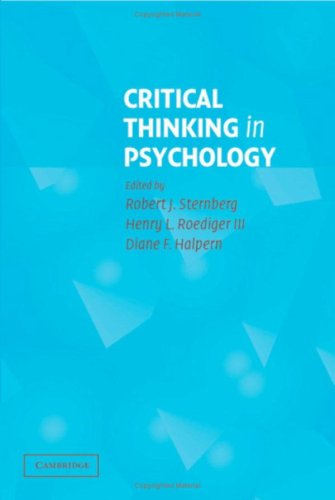 9780521845892: Critical Thinking in Psychology