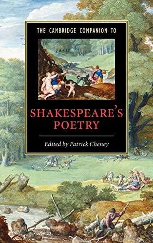 9780521846271: The Cambridge Companion to Shakespeare's Poetry (Cambridge Companions to Literature)