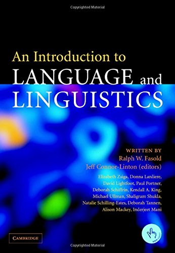 9780521847681: An Introduction to Language and Linguistics
