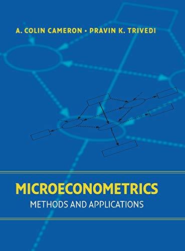 9780521848053: Microeconometrics: Methods and Applications