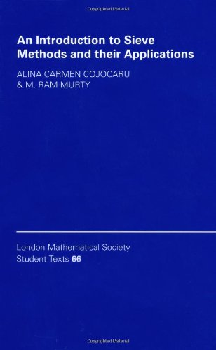 9780521848169: An Introduction to Sieve Methods and Their Applications Hardback (London Mathematical Society Student Texts)