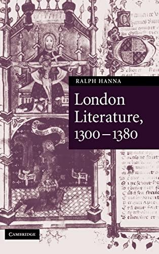 9780521848350: London Literature, 1300-1380 (Cambridge Studies in Medieval Literature)