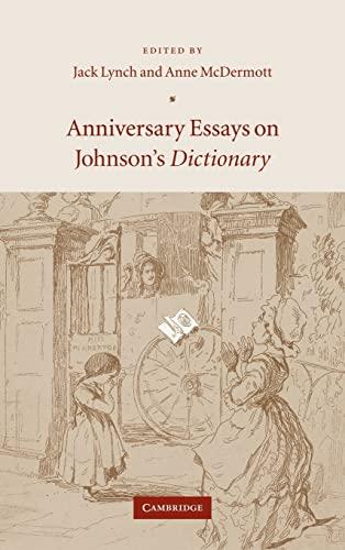 9780521848442: Anniversary Essays on Johnson's Dictionary