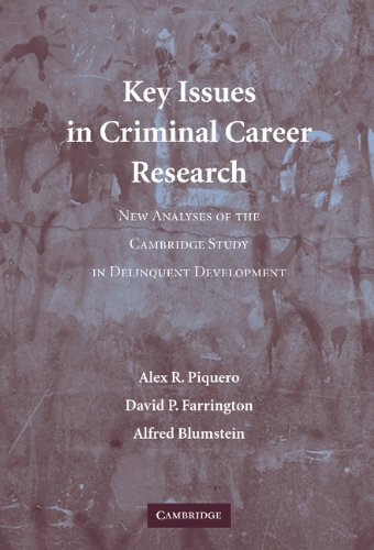 Key Issues in Criminal Career Research: New: Alex R. Piquero;